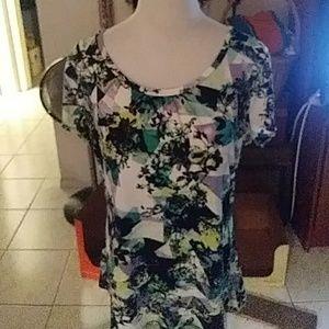 Nwot Worthington floral blouse short sleeve